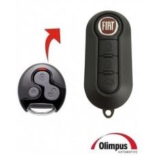 Chave Canivete Fiat 500 P/ Alarme Olimpus LED Azul