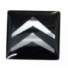 Emblema de Resina Citroen Preto Quadrado P/ Chave Canivete Original (min. 10 pçs)